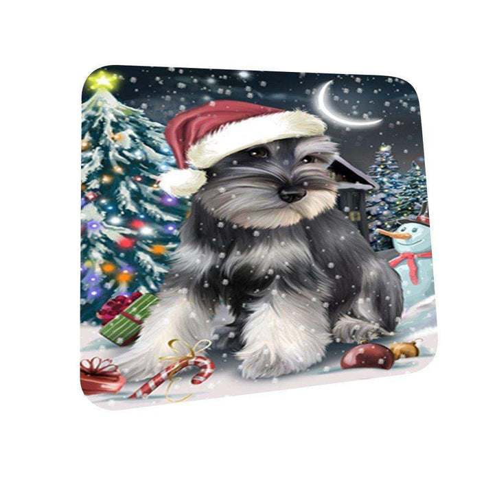 Have a Holly Jolly Schnauzer Dog Christmas Coasters CST087 (Set of 4)