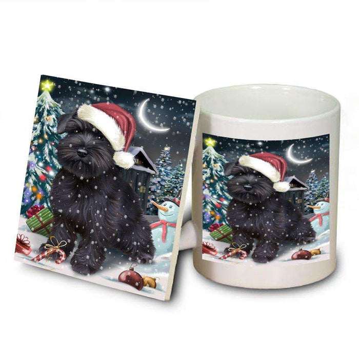 Have a Holly Jolly Schnauzer Dog Christmas Mug and Coaster Set MUC0182