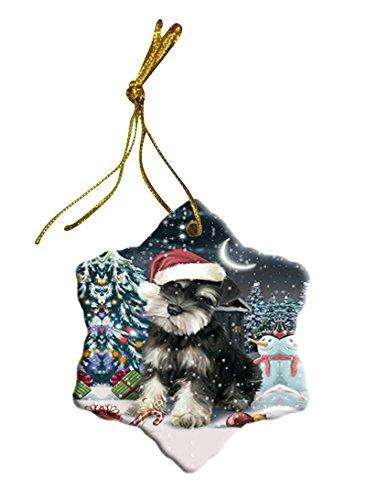 Have a Holly Jolly Schnauzer Dog Christmas Star Ornament POR2484