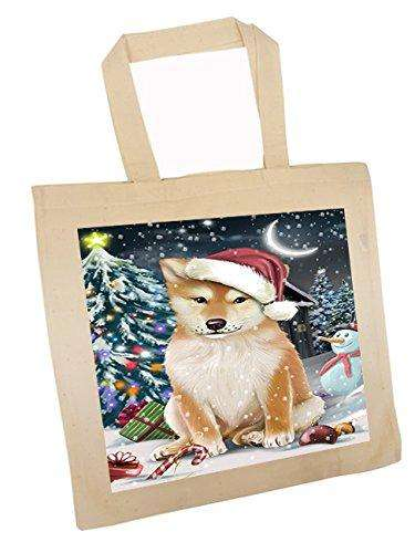 Have a Holly Jolly Shiba Inu Dog Christmas Tote Bag TTB0269