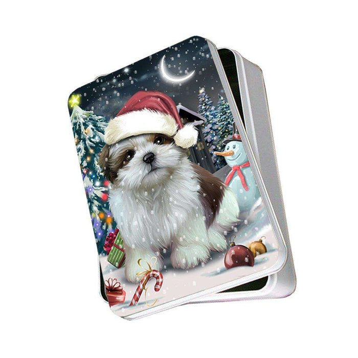 Have a Holly Jolly Shih Tzu Dog Christmas Photo Storage Tin PTIN0275
