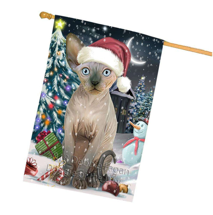 Have a Holly Jolly Sphynx Cat Christmas  House Flag FLG51809