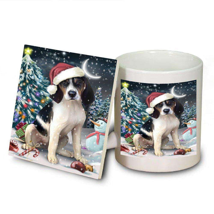 Have a Holly Jolly Treeing Walker Coonhound Dog Christmas Mug and Coaster Set MUC0229