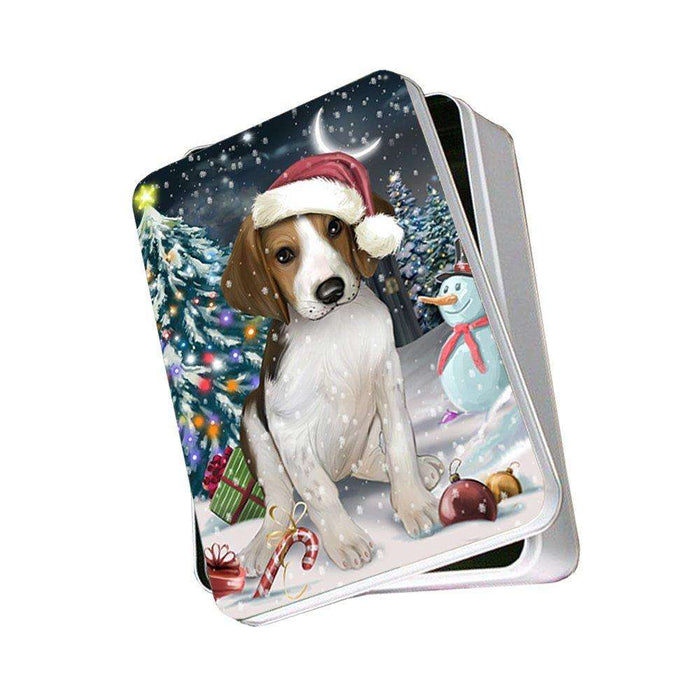 Have a Holly Jolly Treeing Walker Coonhound Dog Christmas Photo Storage Tin PTIN0232