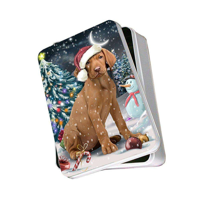 Have a Holly Jolly Vizsla Dog Christmas Photo Storage Tin PTIN0185