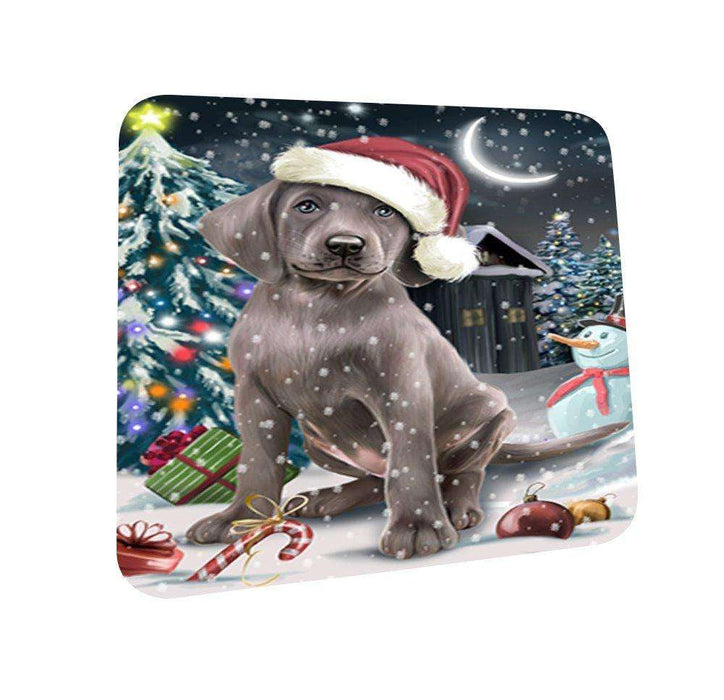 Have a Holly Jolly Weimaraner Dog Christmas Coasters CST139 (Set of 4)