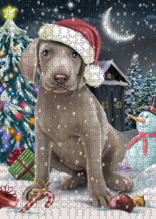 Have a Holly Jolly Weimaraner Dog Christmas Puzzle with Photo Tin PUZL1887