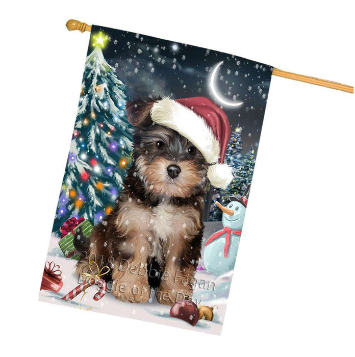 Have a Holly Jolly Yorkipoo Dog Christmas  House Flag FLG51825