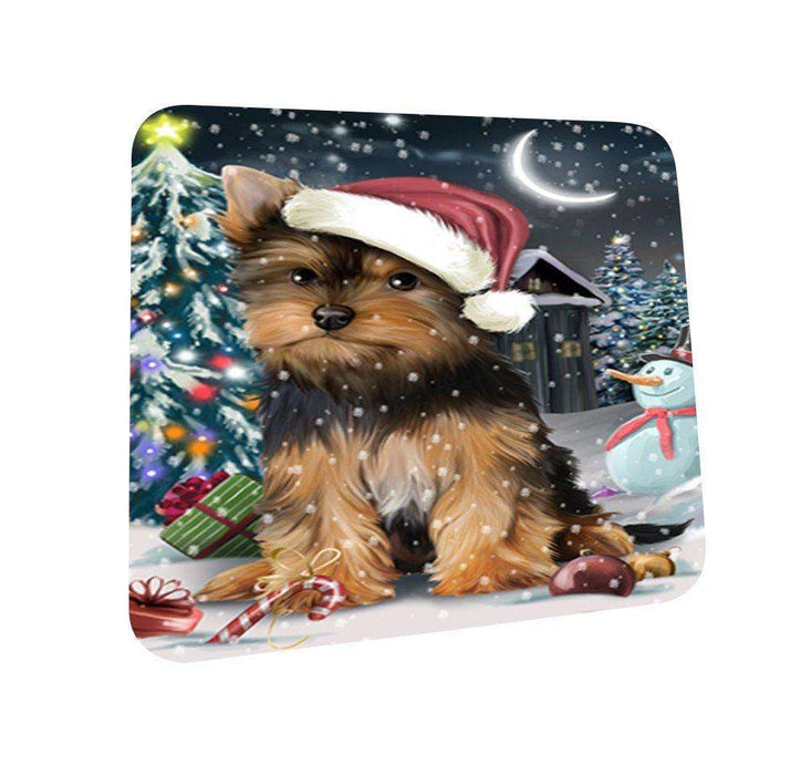 Have a Holly Jolly Yorkshire Terrier Dog Christmas Coasters CST096 (Set of 4)