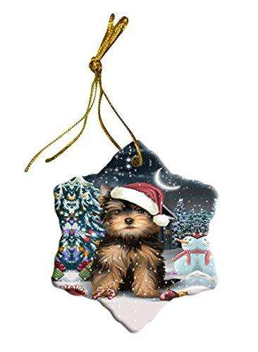 Have a Holly Jolly Yorkshire Terrier Dog Christmas Star Ornament POR2491