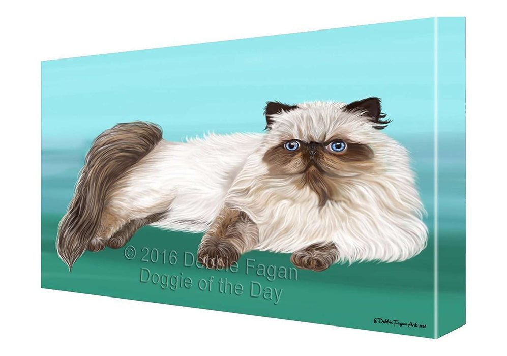 Himalayan Cat Painting Printed on Canvas Wall Art