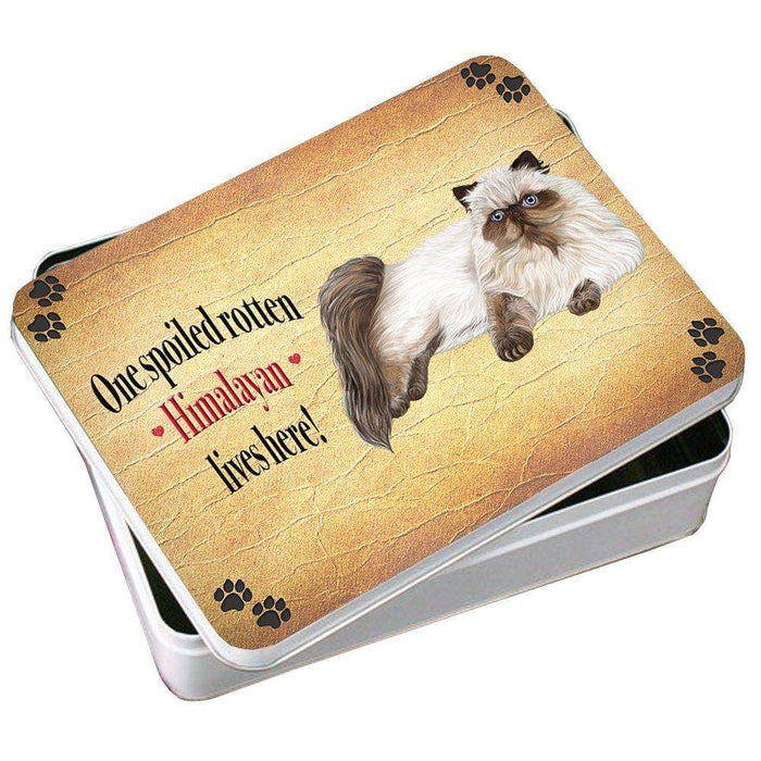 Himalayan Spoiled Rotten Cat Photo Storage Tin