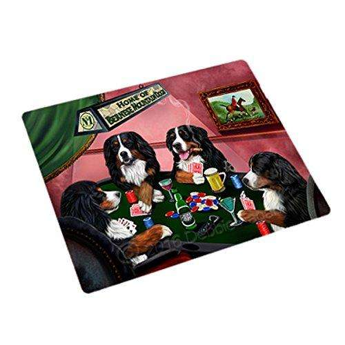 Home of 4 Bernese Mountain Dogs Playing Poker Large Stickers Sheet of 12