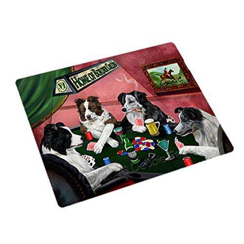 Home of 4 Border Collies Dogs Playing Poker Rectangle Envelope Seals