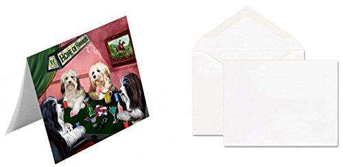 Home of 4 Havanese Dogs Playing Poker Greeting Card (20)