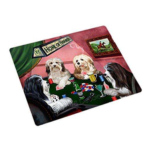 Home of 4 Havanese Dogs Playing Poker Rectangle Envelope Seals