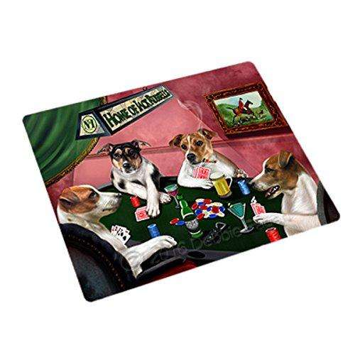 Home of 4 Jack Russell Dogs Playing Poker Rectangle Envelope Seals