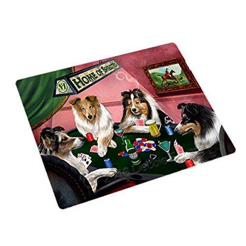Home of 4 Shelties Dogs Playing Poker Rectangle Envelope Seals