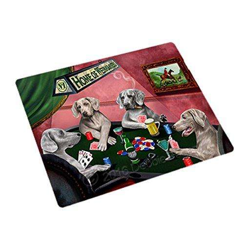 Home of 4 Weimaraner Dogs Playing Poker Rectangle Envelope Seals