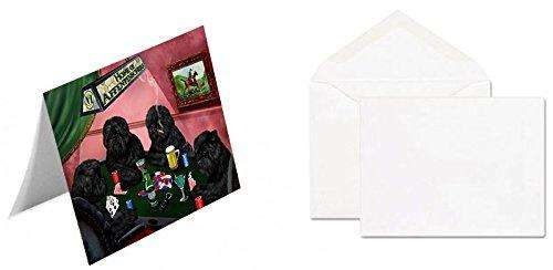 Home of Affenpinschers 4 Dogs Playing Poker Greeting Card