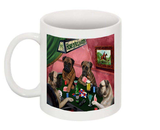 Home of Bullmastiff 4 Dogs Playing Poker Mug