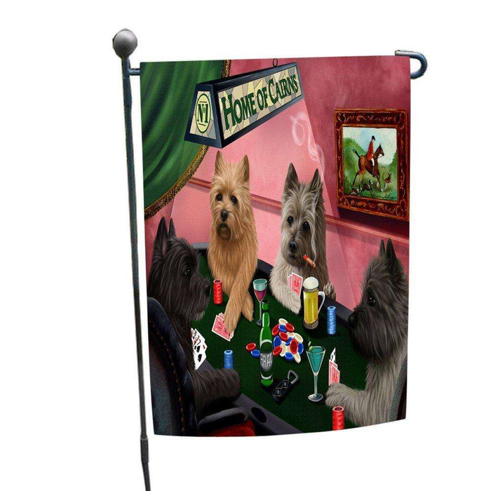 Home of Cairns 4 Dogs Playing Poker Garden Flag