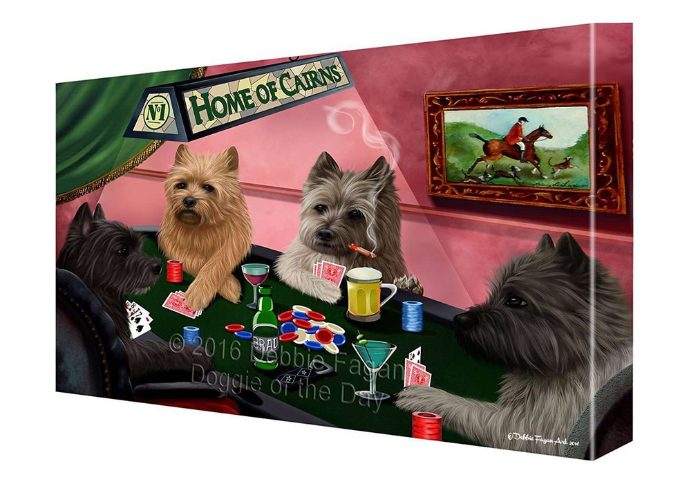 Home of Cairns 4 Dogs Playing Poker Painting Printed on Canvas Wall Art