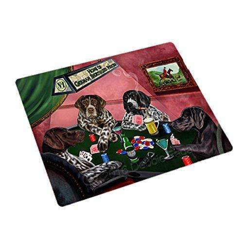 "Home Of German Shorthaired Pointers 4 Dogs Playing Poker Magnet Mini (3.5"" x 2"")"