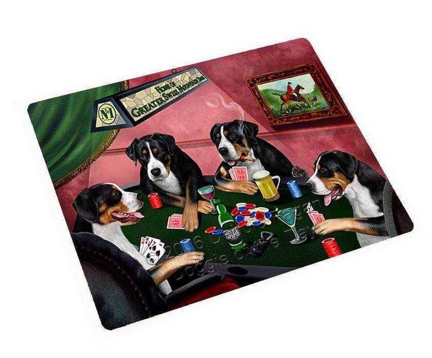 Home of Greater Swiss Mountain 4 Dogs Playing Poker Magnet