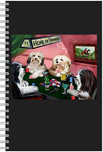 Home of Havanese 4 Dogs Playing Poker Notebook