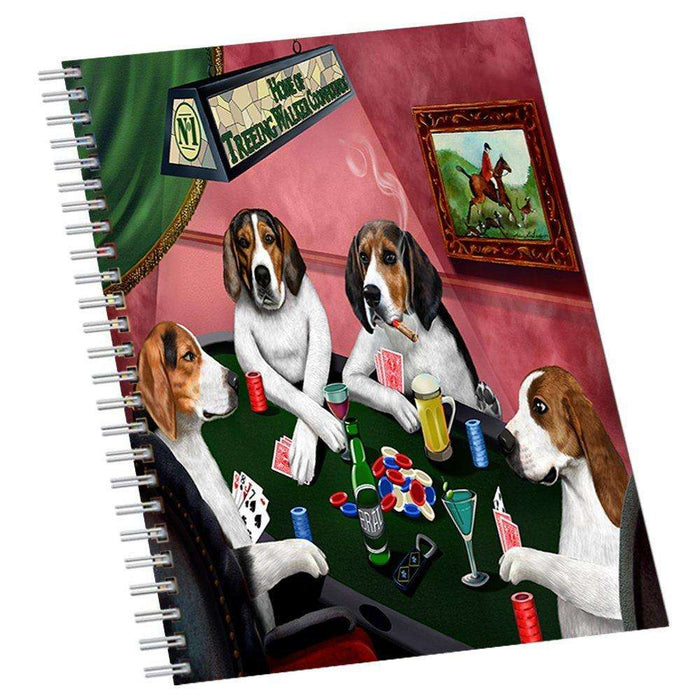 Home of Treeing Walker Coonhounds 4 Dogs Playing Notebook