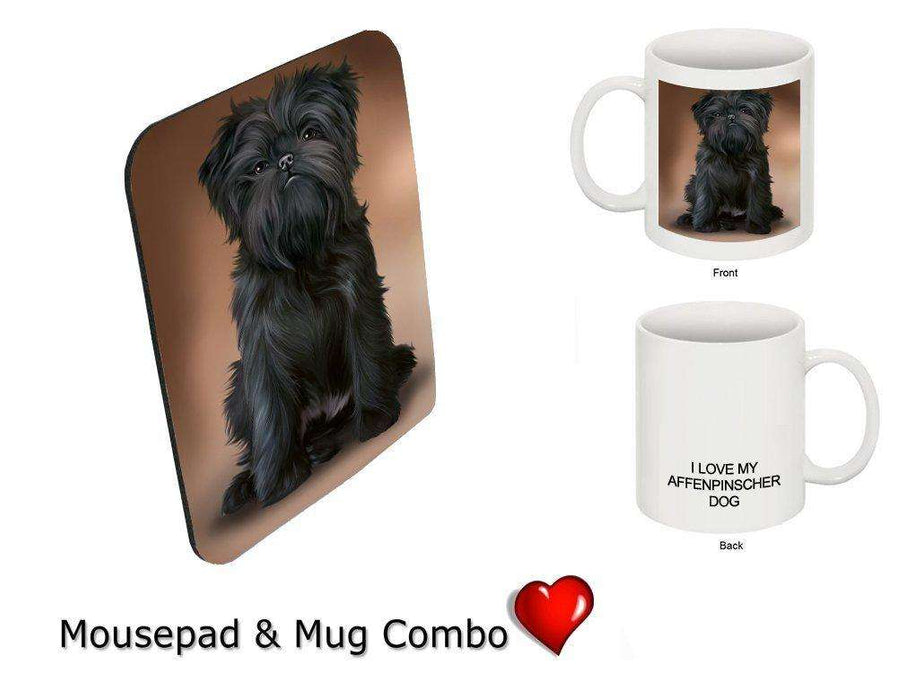I love Affenpinscher Dog Mug & Mousepad Combo Gift Set MMCG0936