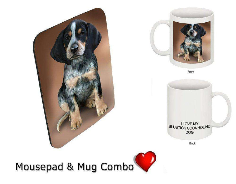 I love Bluetick Coonhound Dog Mug & Mousepad Combo Gift Set MMCG0964