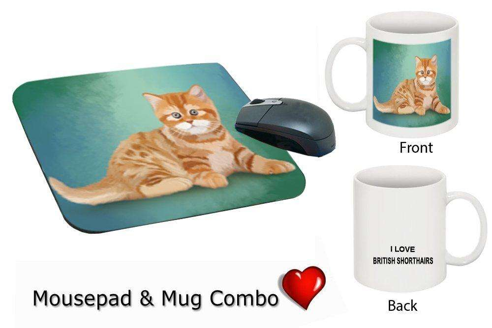I love British Shorthair Cat Mug & Mousepad Combo Gift Set MMCG0353