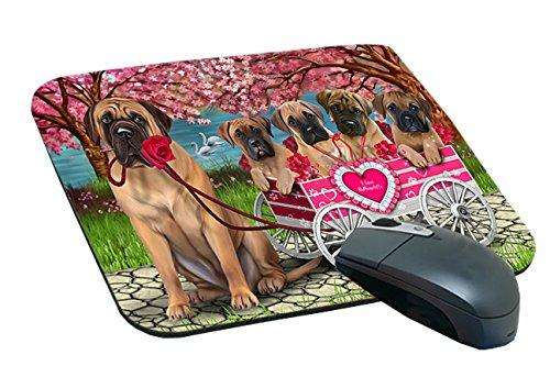 I Love bullmastiffs Dog in a Cart Mousepad MPD48572