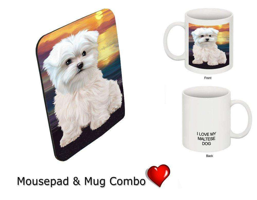 I love Maltese Dog Mug & Mousepad Combo Gift Set MMCG1009