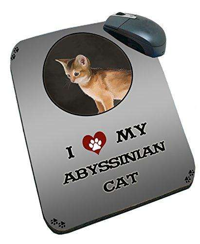 I Love My Abyssinian Kitten Cat Mousepad