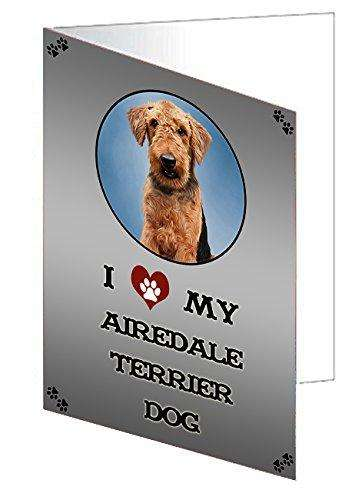 I Love My Airedale Terrier Dog Note Card