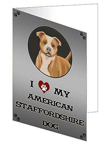 I Love My American Staffordshire Dog Greeting Card