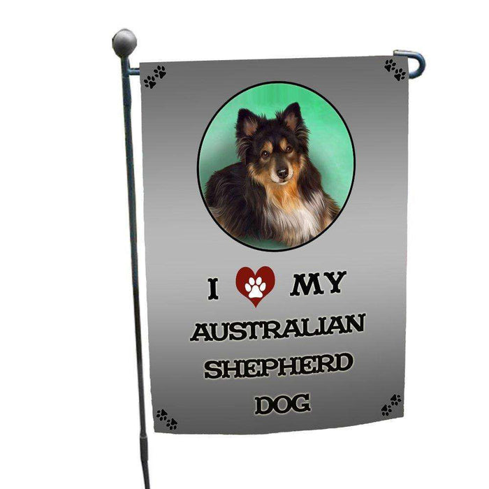 I Love My Australian Shepherd Dog Garden Flag