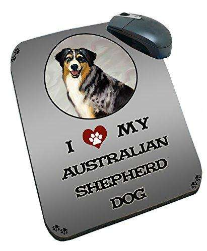 I Love My Australian Shepherd Dog Mousepad