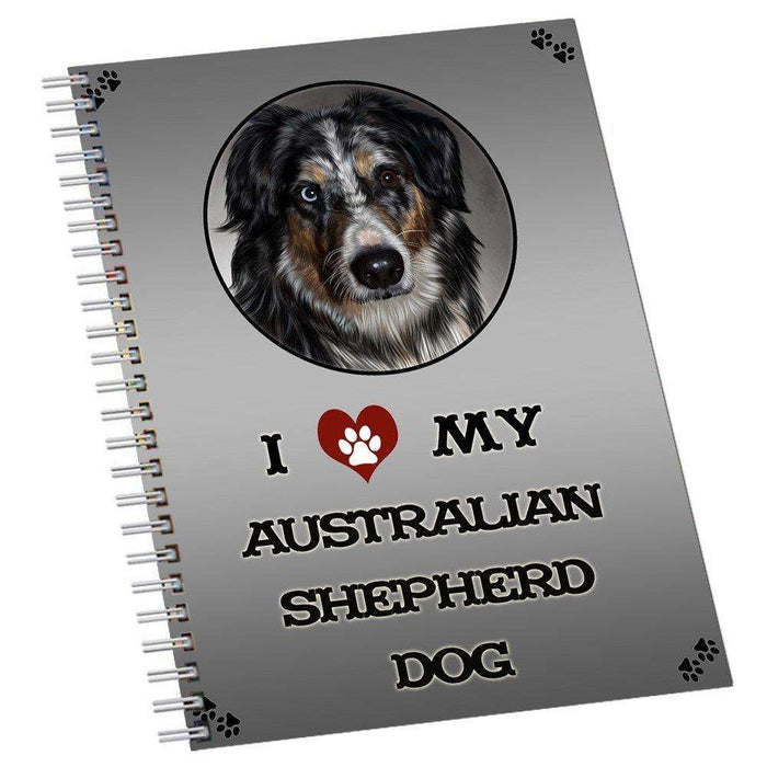 I Love My Australian Shepherd Dog Notebook