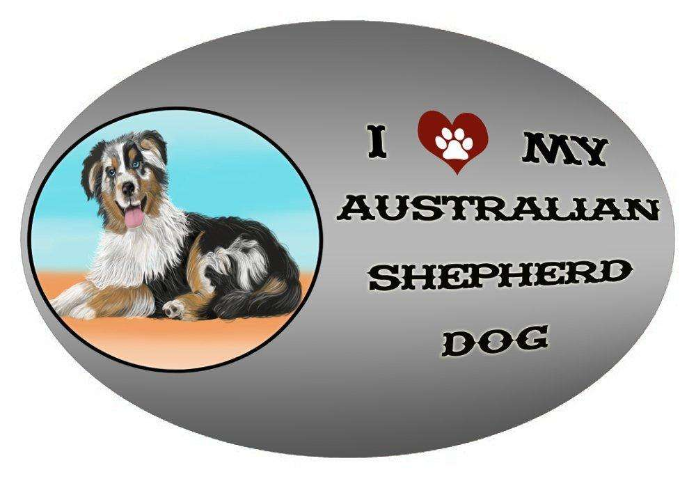 I Love My Australian Shepherd Dog Oval Envelope Seals