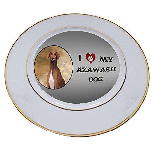 I Love My Azawakh Dog Porcelain Plate