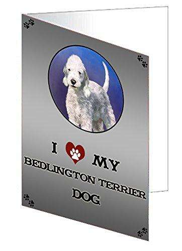I Love My Bedlington Terrier Dog Greeting Card
