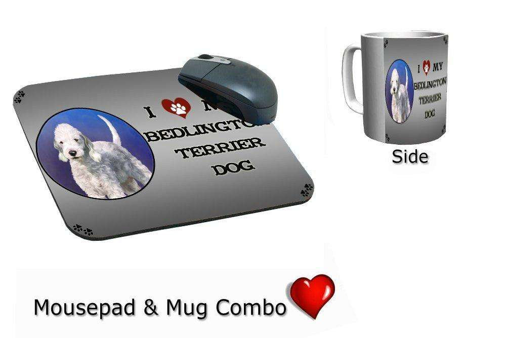 I Love My Bedlington Terrier Dog Mug & Mousepad Combo Gift Set