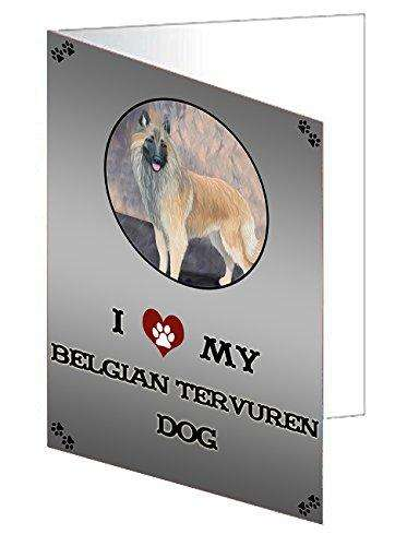I Love My Belgian Tervuren Dog Note Card