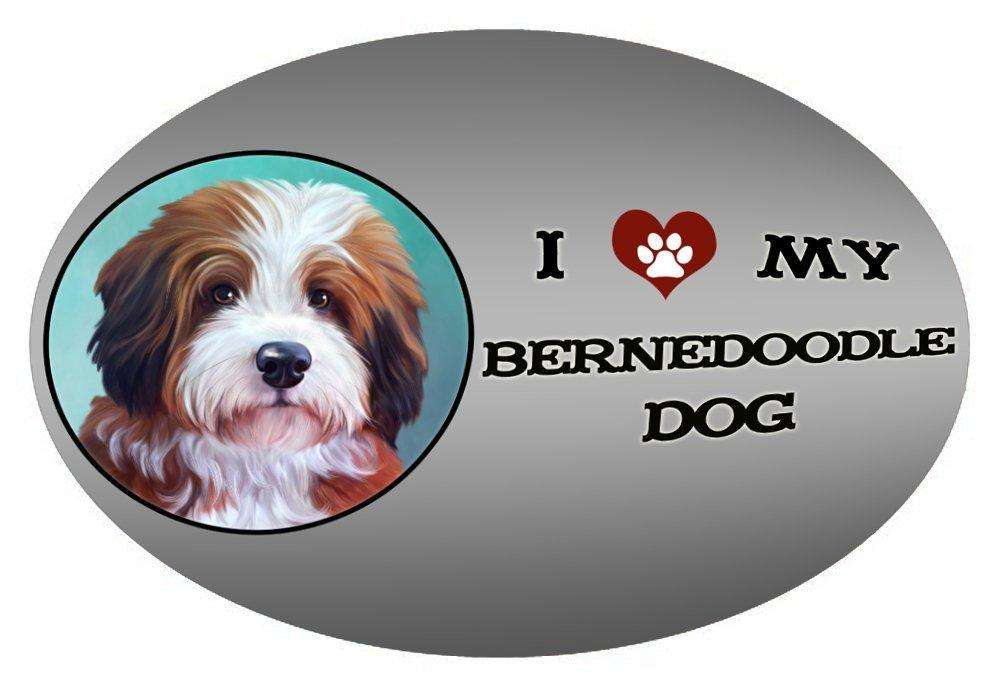 I Love My Bernedoodle Dog Oval Envelope Seals
