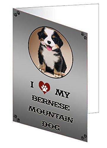 I Love My Bernese Mountain Dog Note Card