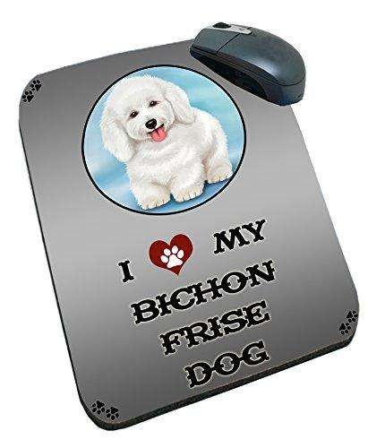 I Love My Bichon Frise Dog Mousepad
